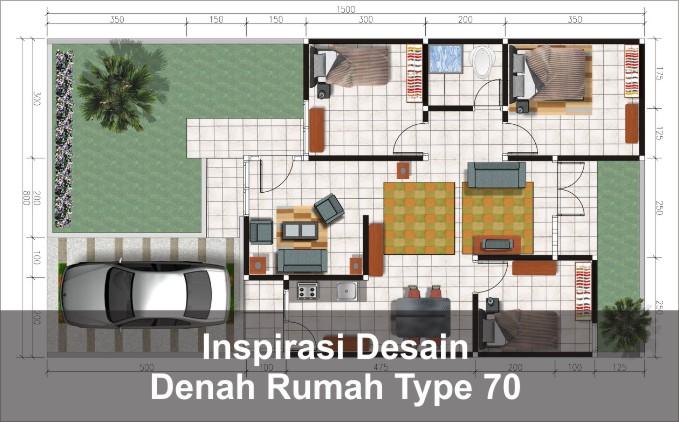 inspirasi denah rumah type 70
