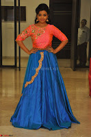 Nithya Shetty in Orange Choli at Kalamandir Foundation 7th anniversary Celebrations ~  Actress Galleries 133.JPG