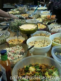 salad supper spread