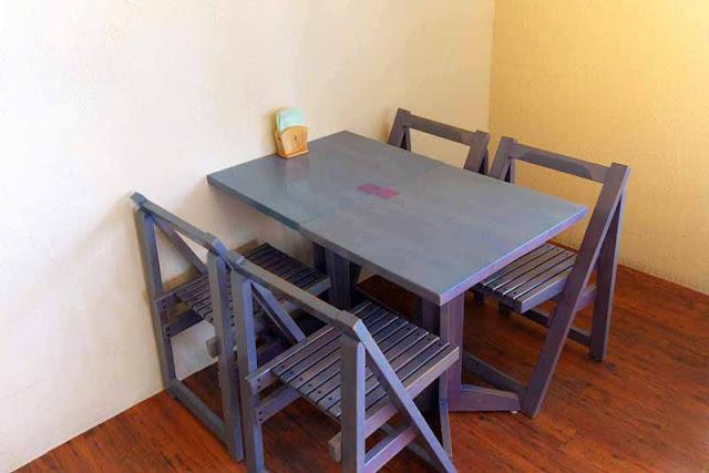 cafe-style, table, chairs