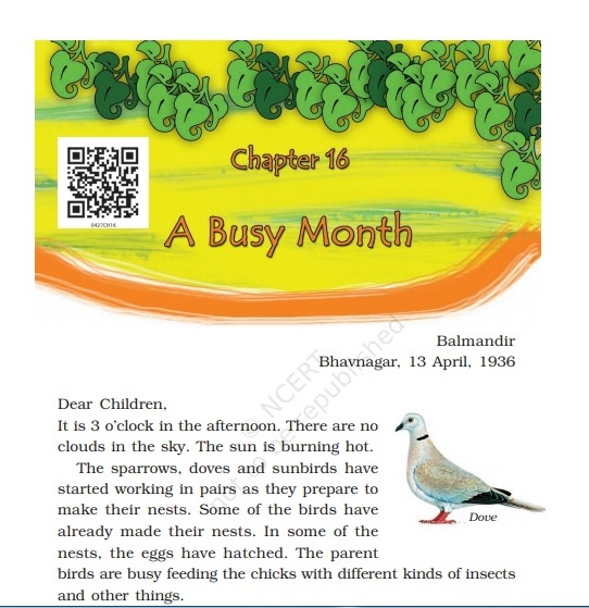 The author of the story a busy month | A Busy Month story writteen by Gijubhai Badheka