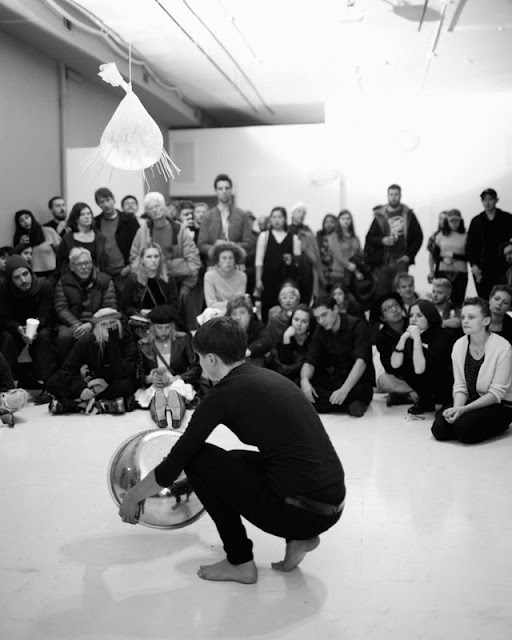 Marita Bullmann in performance, March 25, 2017, Defibrillator Gallery