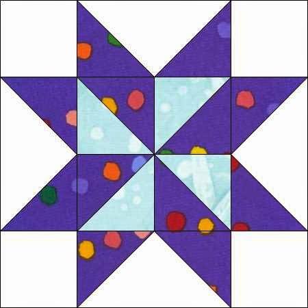 ster met pinwheelblok als centrum