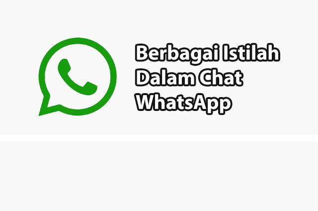 Penjelasan Dari Berbagai Istilah Dalam WhatsApp