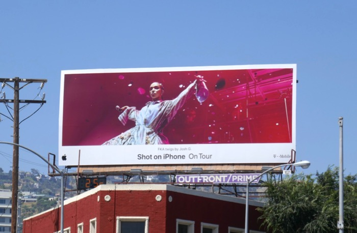 Shot on iPhone On Tour FKA twigs billboard