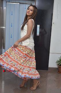 Telugu Actress Anu Emmanuel New Stills in Beautiful White Long Dress  0073.JPG