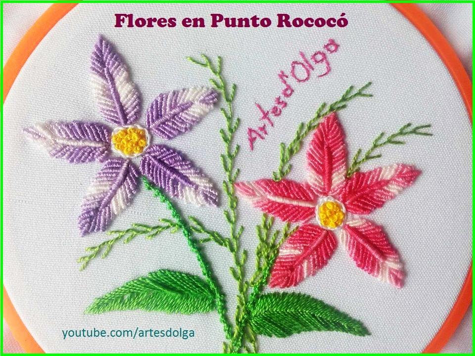 Artesd\'Olga: Bordado Brasileño: Flores en Punto Rococo | Bullion ...