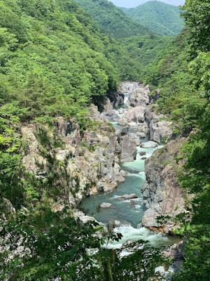 大観から見る龍王峡