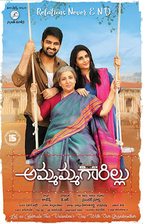 Poster Of Ammammagarillu In Dual Audio Hindi Telugu 300MB Compressed Small Size Pc Movie Free Download Only At worldfree4u.com