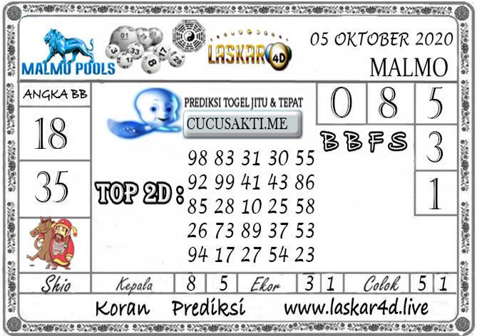 Prediksi Togel MALMO LASKAR4D 05 OKTOBER 2020