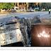 Pasangan Pengantin Baru Maut, Kereta Terbakar