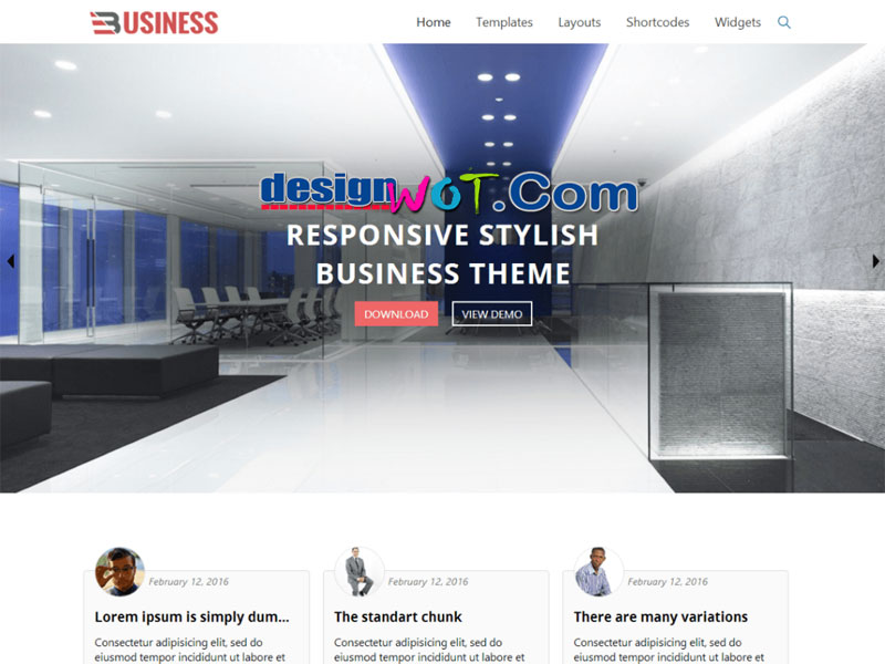 Business World WordPress Theme