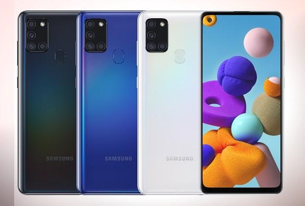Samsung Galaxy A21s Colors