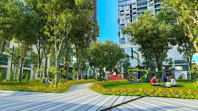 công viên chung cư park view city yên hòa