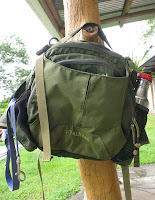 green lumbar pack