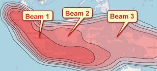 Peta Beam Transvision Satelit Measat 3B