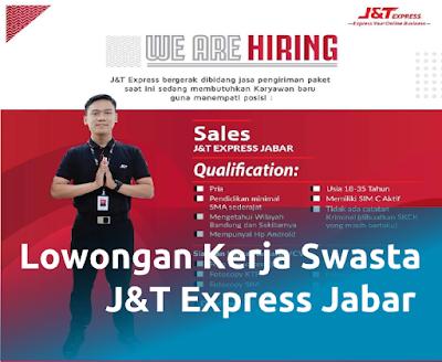 Lowongan kerja terbaru sebagai sales J&T Express Jabar di Bandung
