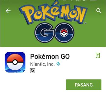 Free Official Download Pokemon GO Resmi Indonesia via Play Store Terbaru Gratis Full Data