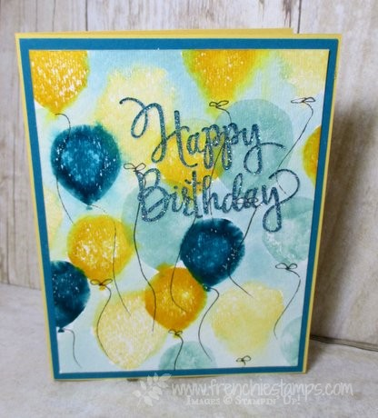 Balloon Celebration, Stylized Birthday, stampin'Up! Frenchiestamps