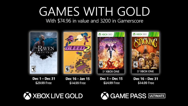 Games with Gold Δεκέμβριος