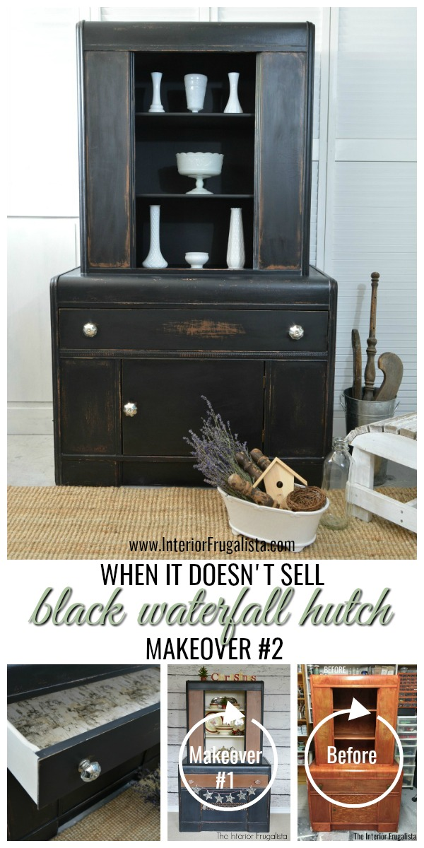 Black Waterfall Hutch Makeover No. 2