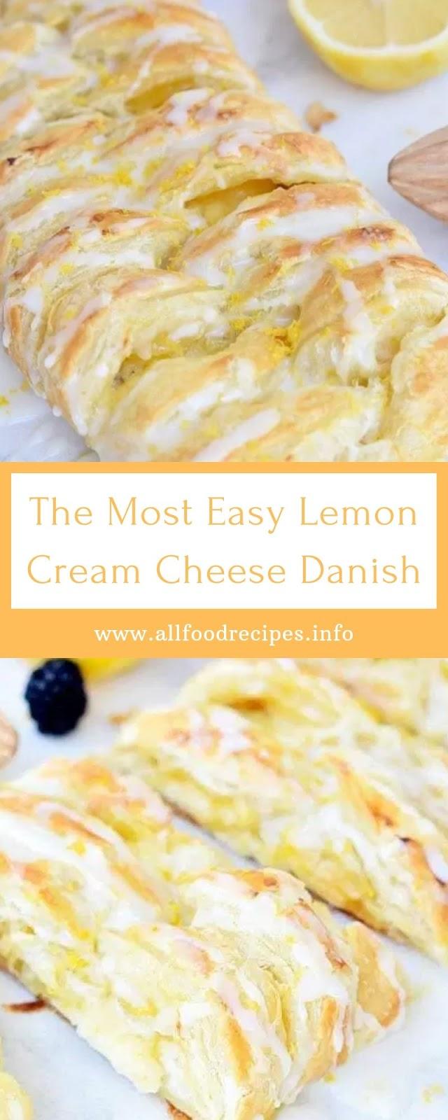The Most Easy Lemon Cream Cheese Danish