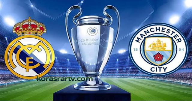 مباراة مانشستر سيتي وريال مدريد بث مباشر