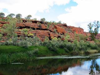 Древняя река Финк в Австралии