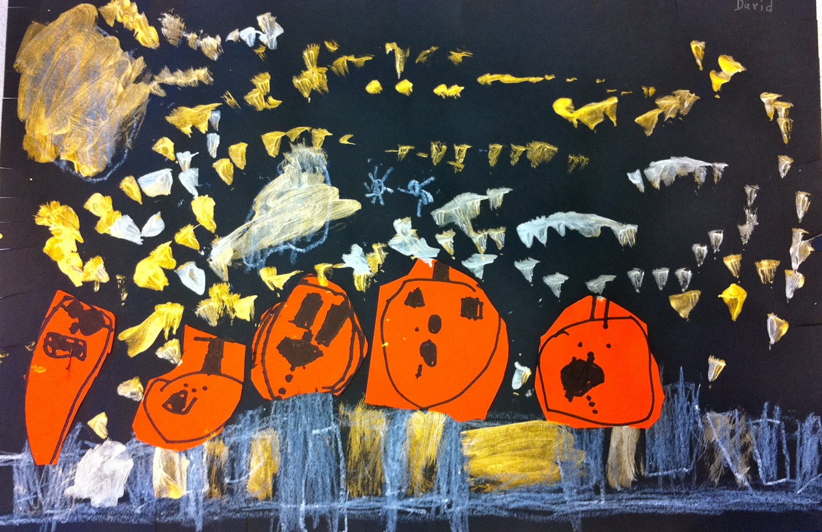 Expression Of Imagination Pumpkin Art By Kindergarten