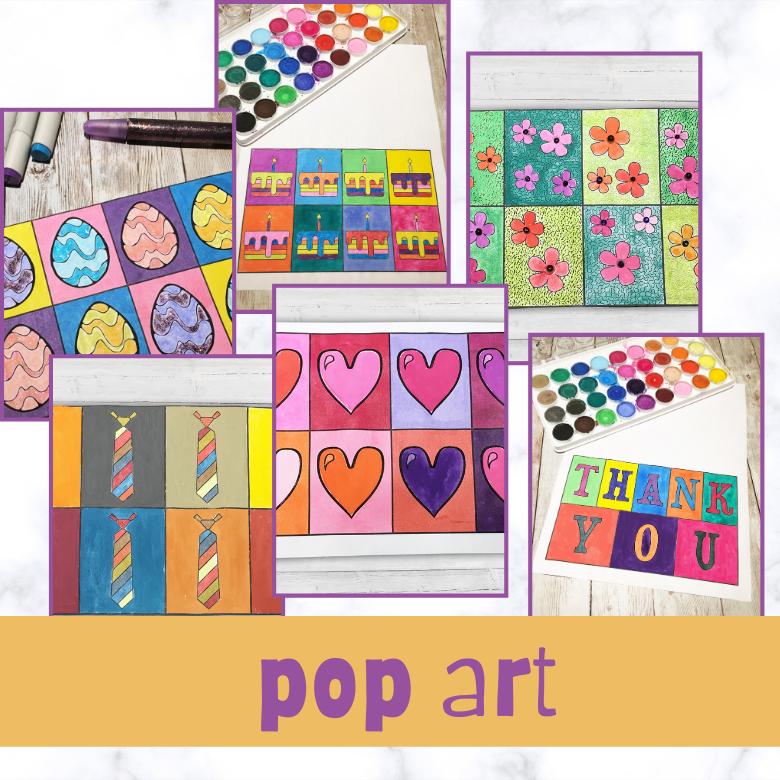 pop art printable templates for kids