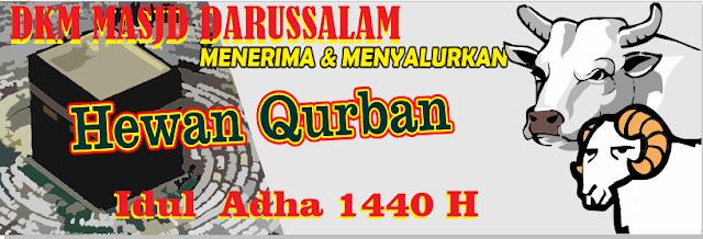 Spanduk Idul Adha 1440 H