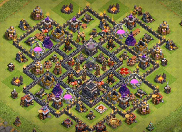 Base COC TH9 Farming 22