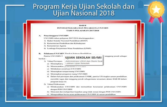 Program Kerja Sekolah dan Ujian Nasional 2018