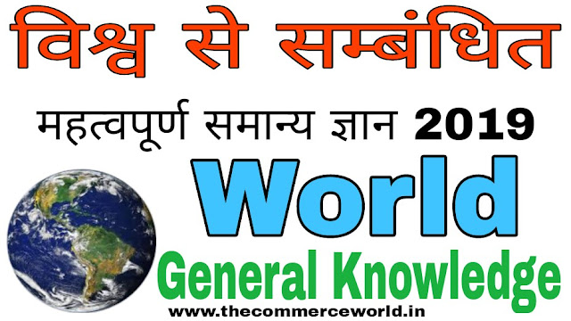 World Related Important General Knowledge 2019