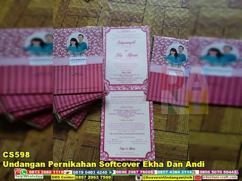 jual Undangan Pernikahan Softcover Ekha Dan Andi
