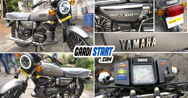 Yamaha RX 100 Gunmetal Grey