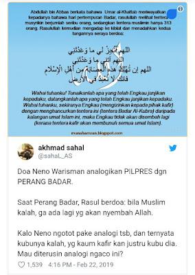 Kecam Neno Warisman, Pendiri Alumni 212: Sangat Biadab, Kesucian Agama Islam Diperkosa