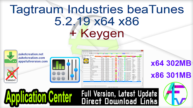 Tagtraum Industries beaTunes 5.2.19 x64 x86 + Keygen