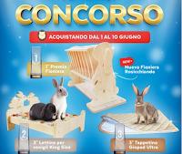 Logo Rosicchiando 2° Super Concorso : vinci lettino, fieniera e tappetino per conigli