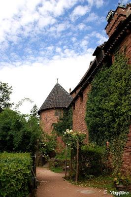 Il piccolo giardino medievale del Castello di Haut Koenigsbourg