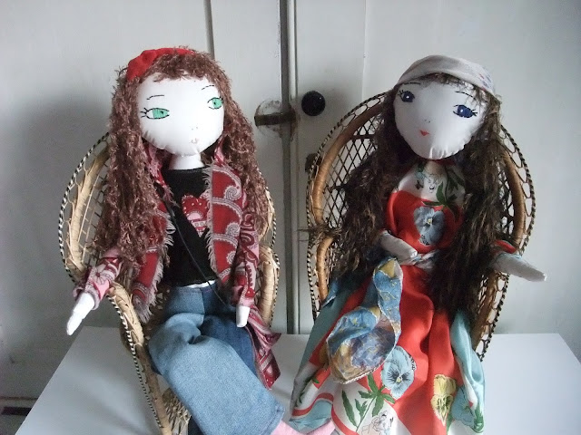 Groovy Girls upcycled dolls by Karen Vallerius