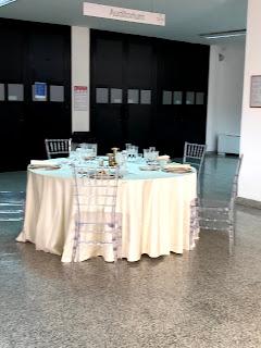 結婚式の会場テーブルセット見本