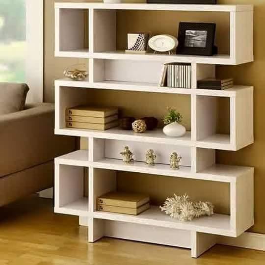 contoh desain rak buku minimalis