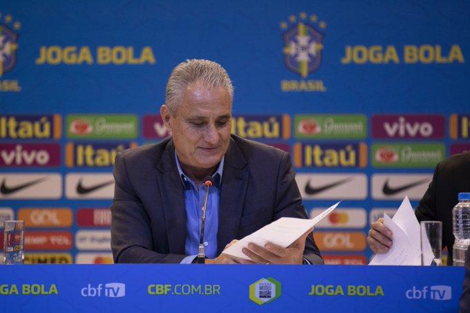 Tite convoca a Seleção Brasileira para amistosos