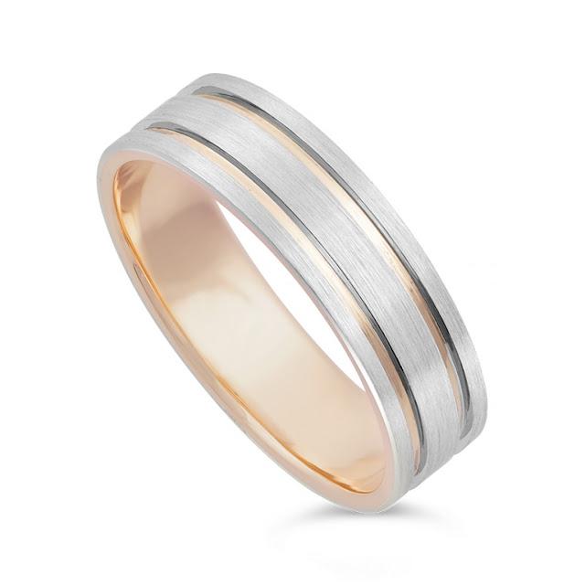 Mens Rose Gold Wedding Ring