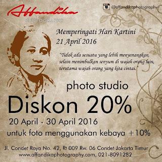 Diskon 20% Affandika Studio di hari kartini