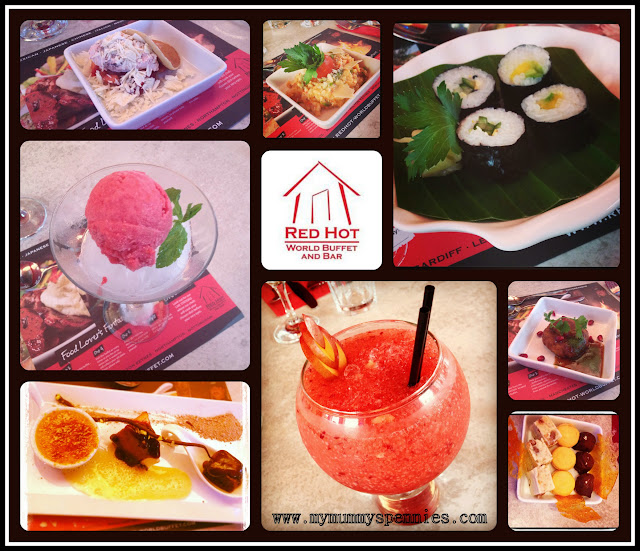 selection of food from Red Hot World Buffet Manchester