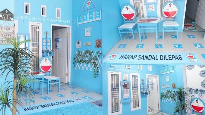 Inspirasi Rumah Biru Doraemon versi @reghinakarwur #Inspirasi Dari Instagram