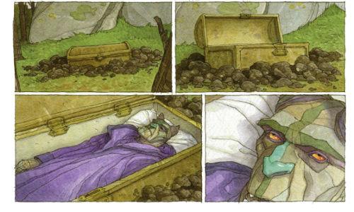BD Le Triskel volé - le réveil de Xamain le démon