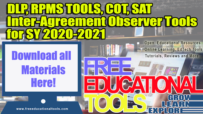 Lesson Plan (DLP), RPMS Tools, COT's Forms for SY 2020-2021 [Download]